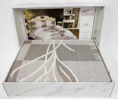 Покрывало My Bed Жакард 240x260 с наволочками Lotus Cappucino