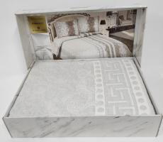 Покрывало My Bed Жакард 240x260 с наволочками Versace Grey