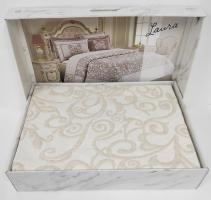 Покрывало My Bed Жакард 240x260 с наволочками Laura Beige