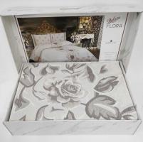 Покрывало My Bed Жакард 240x260 с наволочками Flora Cappucino