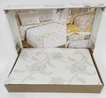 Покрывало My Bed Жакард 240x260 с наволочками Lale Grey