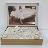 Скатерть Велюр Maison Royale 160x300 Flora Cappucino