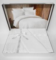 Постільна білизна Saheser Jacquard Vip Satin 200X220 Rosella Gul / Beyaz