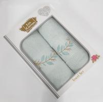 Набор махровых полотенец 2шт АЕ model-10