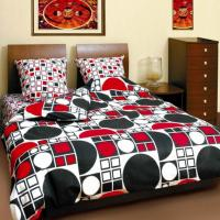 Комплект постельного белья ТЕП семейный 531 Коло чорно-червоне, 70x70