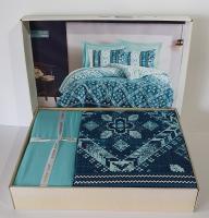 Постельное белье Cotton Box ранфорс 200X220 Dante Petrol