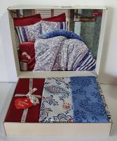 Постільна білизна Cotton Box ранфорс 200X220 Lorisa Mavi