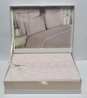 Постельное белье Maison D'or сатин бамбук семейный Ares Pembe гипюр