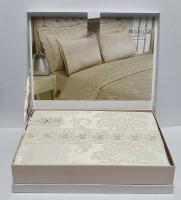 Постельное белье Maison D'or сатин бамбук семейный Zeus Krem