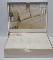 Постельное белье Maison D'or сатин бамбук семейный Vesta Krem