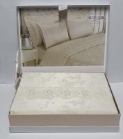Постельное белье Maison D'or сатин бамбук семейный Neptun Krem