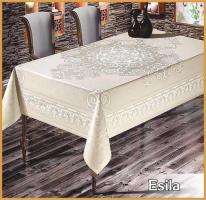 Скатертина тефлонова PVS Maison Royale 160 * 220 Esila White
