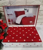 Постельное белье Maison D'or сатин 160х220 Stars Red