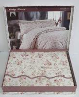 Постільна білизна Maison D'or сатин 160х220 Lady Roses White