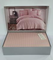 Постільна білизна Maison D'or страйп-сатин  160х220 Rails Rose