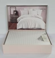 Постільна білизна Maison D'or страйп-сатин  160х220 Rails White