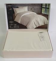 Постельное белье Maison D'or сатин жаккард 160х220 Mirabella Cream