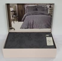 Постельное белье Maison D'or сатин жаккард 160х220 Mirabella Anthracite