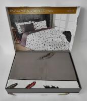Постельное белье Maison D'or сатин семейный Pulume Volante Antracite