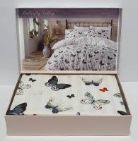 Постельное белье Maison D'or сатин 200х220 Butterfly Valley Grey