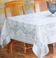 Скатертина з люрексом Sagol 160*220 St-059 Cream