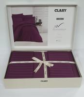 Постельное белье CLASY страйп-сатин 200x220 см Mor