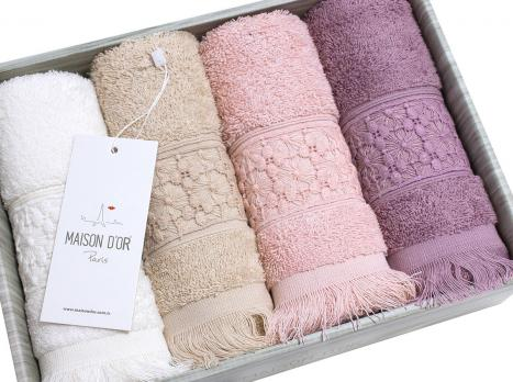 Полотенца Maison D'or 4шт Suzanne 40x60