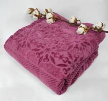 Махровая Простынь Евро АЕ Cotton 220Х240 см фиолетовая