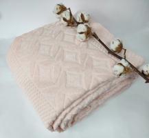 Махровая Простынь Евро АЕ Cotton 220Х240 см розовая
