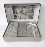 Постільна білизна Altinbasak сатин-жакард 200x220 Elsa Haki