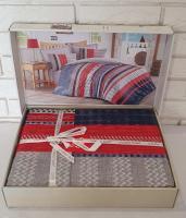 Постельное белье Cotton Box ранфорс семейный Vera Mavi