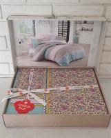 Постельное белье Cotton Box ранфорс 200X220 Jayla Lila