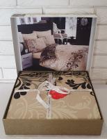 Постельное белье Cotton Box сатин 200X220 Cemile Bej