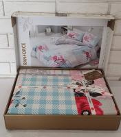 Постельное белье Cotton Box Mode Line ранфорс семейный Rita Pembe