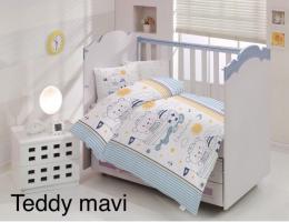 Постельное белье Altinbasak ранфорс 100x150 см Teddy mavi