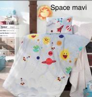 Постельное белье Altinbasak ранфорс 100x150 см Space mavi