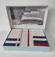 Постельное белье Altinbasak ранфорс 160x220 Striped Kirmizi