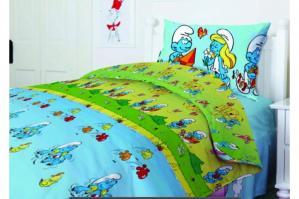 Комплект постельного белья ТЕП  подростковый 951 Смурфики, 50x70