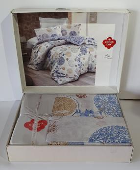 Постельное белье Cotton Box ранфорс семейний Lola Mavi