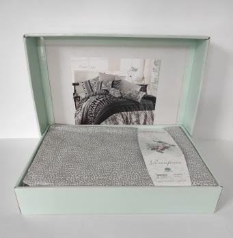 Постельное белье Cotton Land ранфорс 200X220 Cheta Gri
