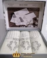 Полотенца Maison D'or 3шт Brise-Apone 40x60 Ecru