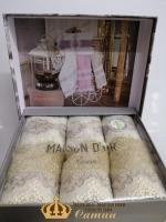 Полотенца Maison D'or 3шт Vanessa Set 30x50 Beige