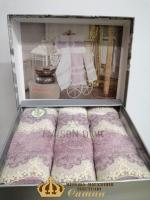 Полотенца Maison D'or 3шт Vanessa Set 30x50 Lilac