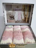 Полотенца Maison D'or 3шт Vanessa Set 30x50 Rosa