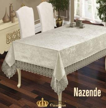 Скатерть Велюр Maison Royale 160x220 Nazende Cream