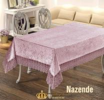 Скатерть Велюр Maison Royale 160x220 Nazende Powder
