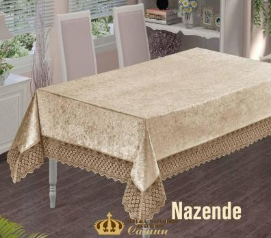 Скатерть Велюр Maison Royale 160x220 Nazende Cappucino