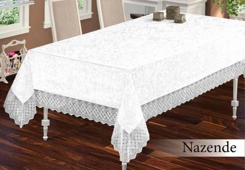 Скатерть Велюр Maison Royale 160x300 Nazende White