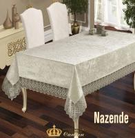 Скатерть Велюр Maison Royale 160x300 Nazende Cream