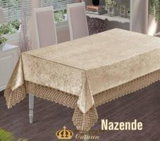 Скатерть Велюр Maison Royale 160x300 Nazende Cappucino